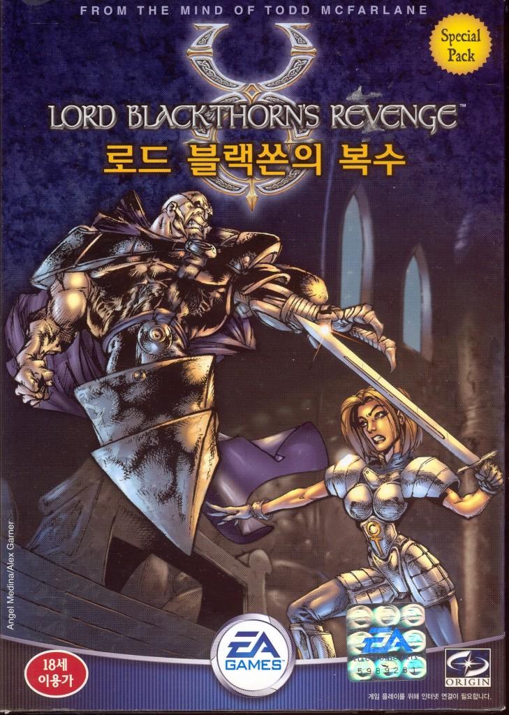 03-3 Ultima Online - Lord Blackthorn's Revenge (2002) 의 가운데 피겨(Figure)가 들어있는 버전의 박스 앞면