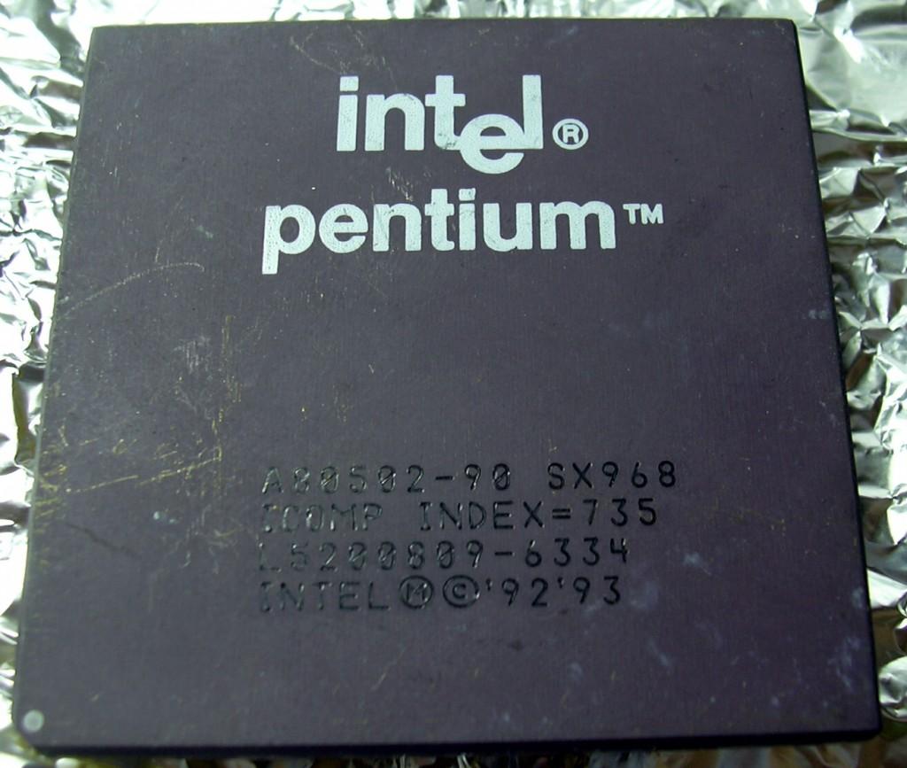 15 Intel Penium 90 CPU 의 사진