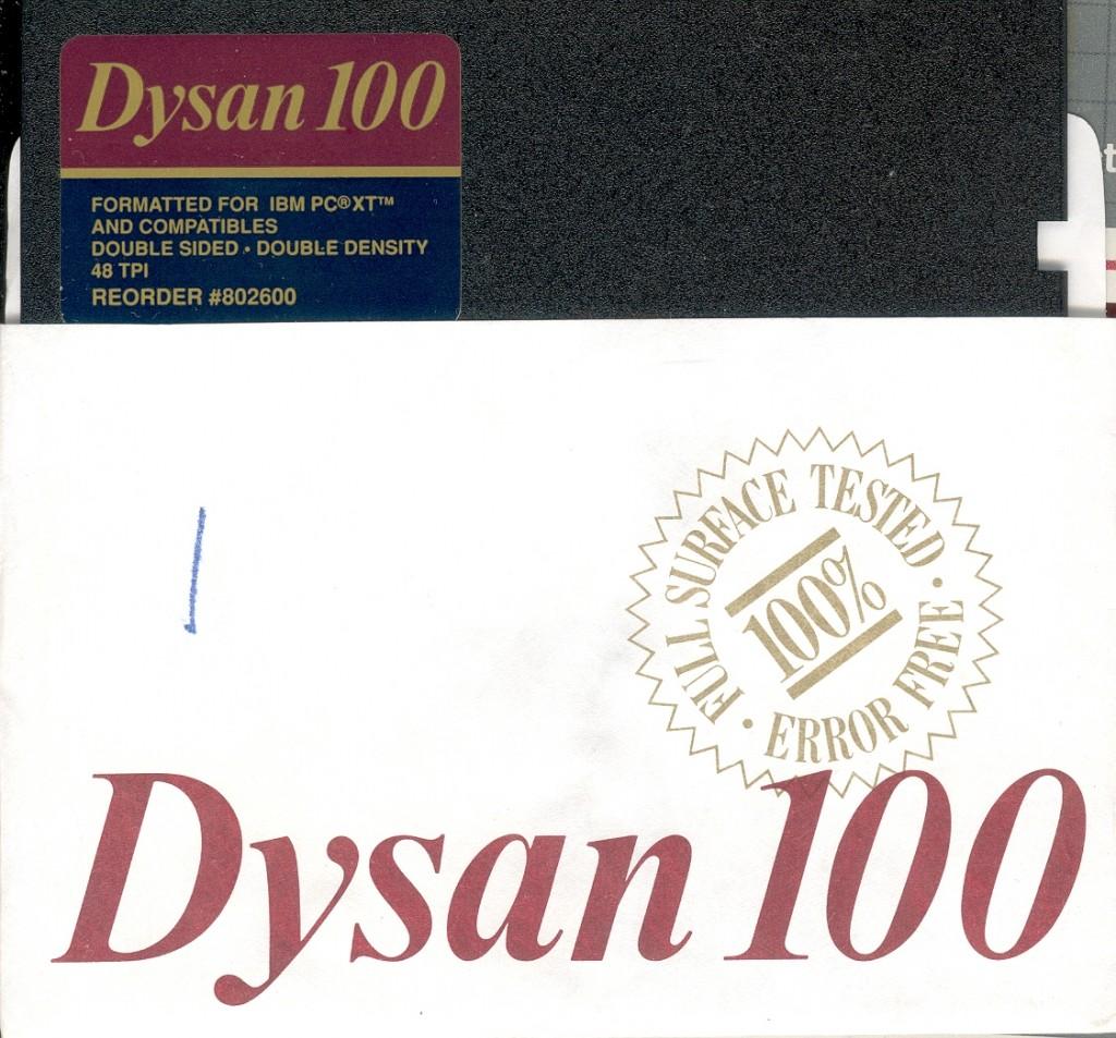 22 Dysan Diskette 사진